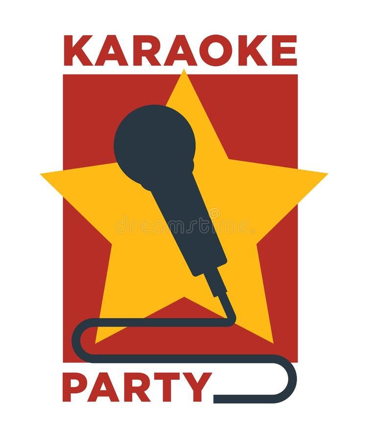Il vettore del club e della barra di karaoke identifica o la progettazione del logotype illustrazione di stock