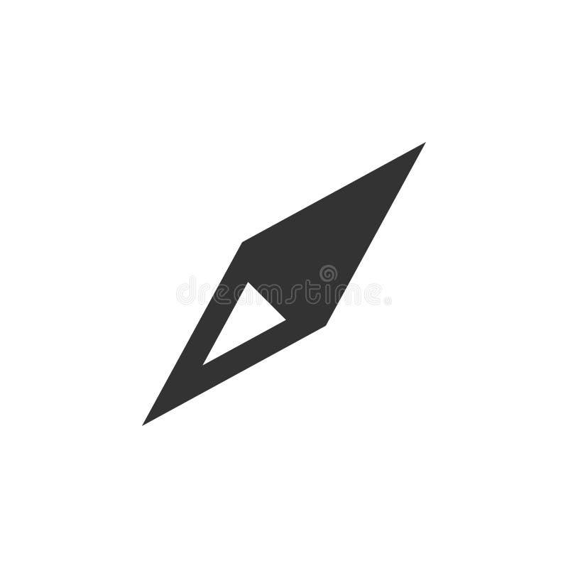Il vettore del modello di progettazione dell'icona della bussola ha isolato illustrazione vettoriale