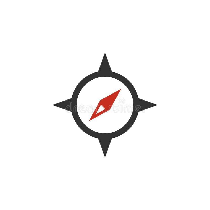 Il vettore del modello di progettazione dell'icona della bussola ha isolato illustrazione di stock