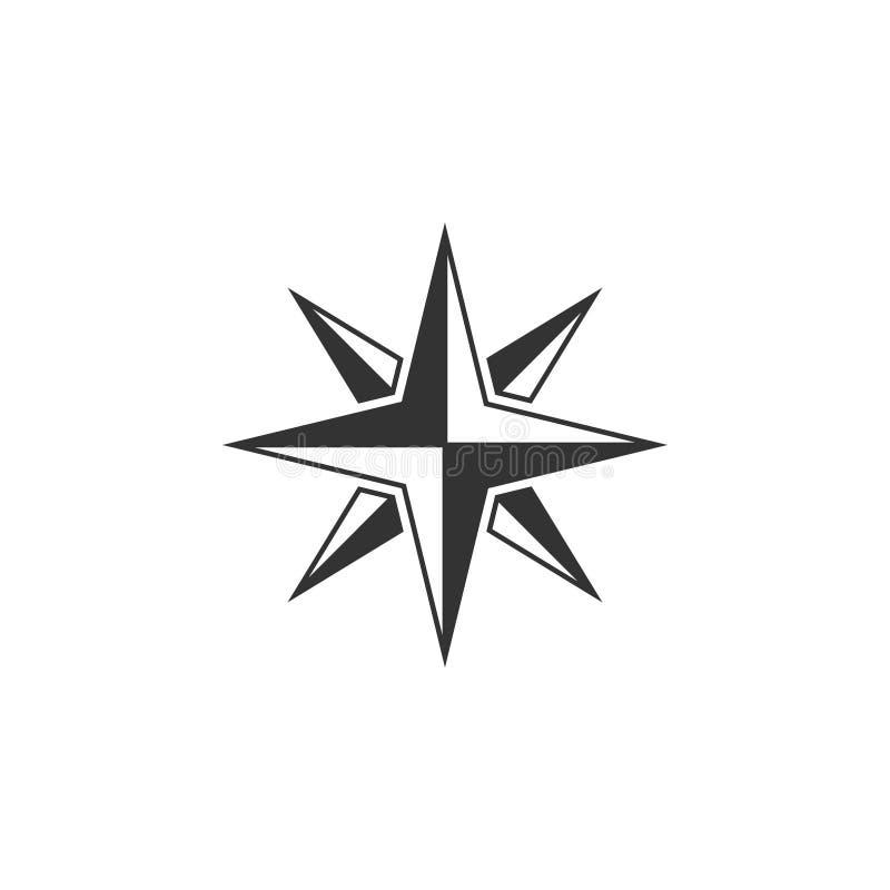 Il vettore del modello di progettazione dell'icona della bussola ha isolato royalty illustrazione gratis