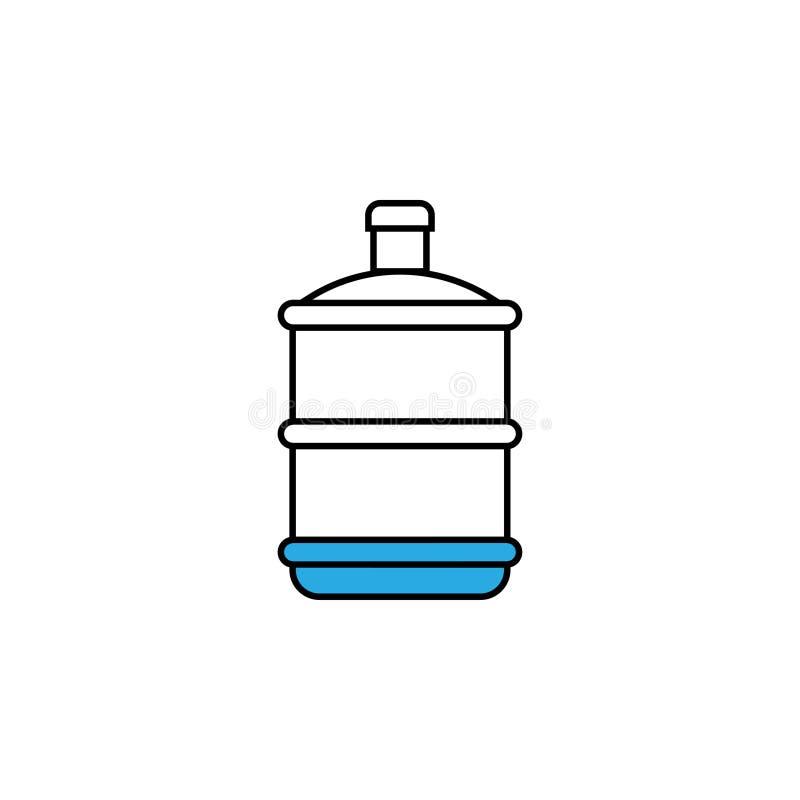 Il vettore del modello di progettazione dell'icona di gallone dell'acqua ha isolato royalty illustrazione gratis