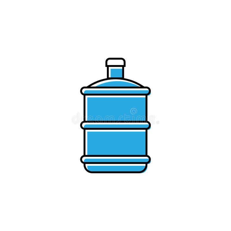 Il vettore del modello di progettazione dell'icona di gallone dell'acqua ha isolato illustrazione vettoriale