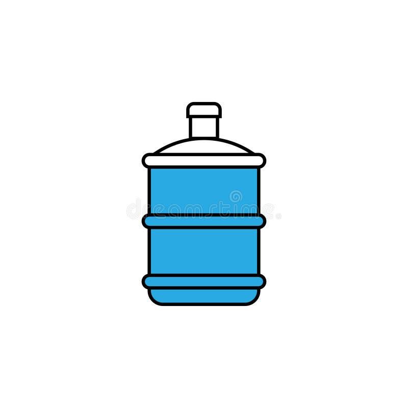 Il vettore del modello di progettazione dell'icona di gallone dell'acqua ha isolato illustrazione di stock
