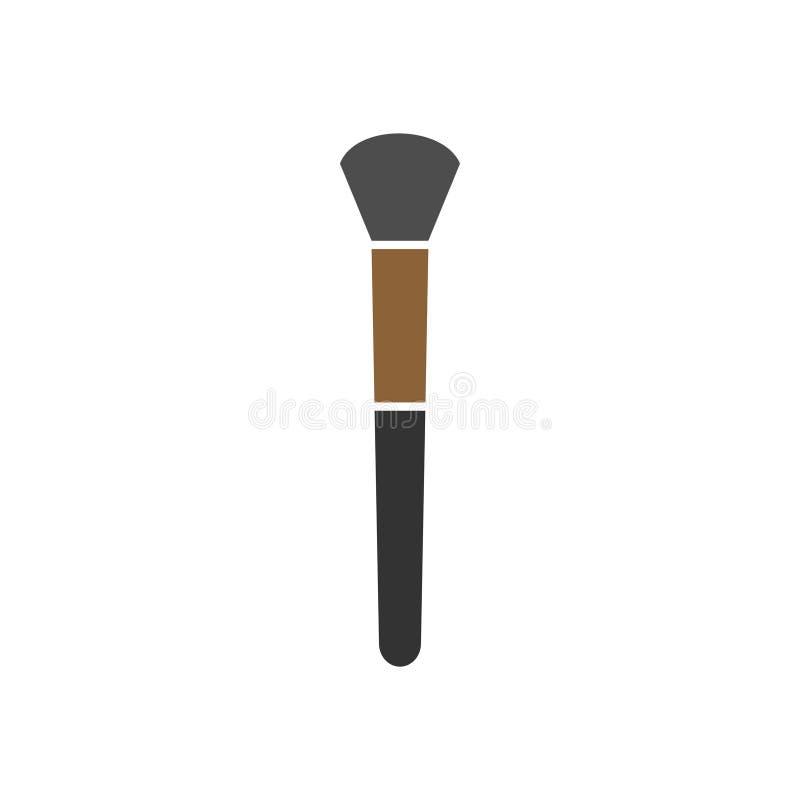 Il vettore del modello di progettazione grafica della spazzola del fondamento ha isolato illustrazione di stock