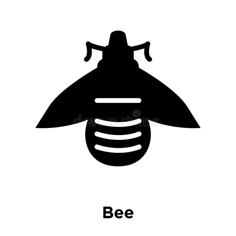 Il vettore dell'icona dell'ape isolato su fondo bianco, concetto di logo di è illustrazione di stock