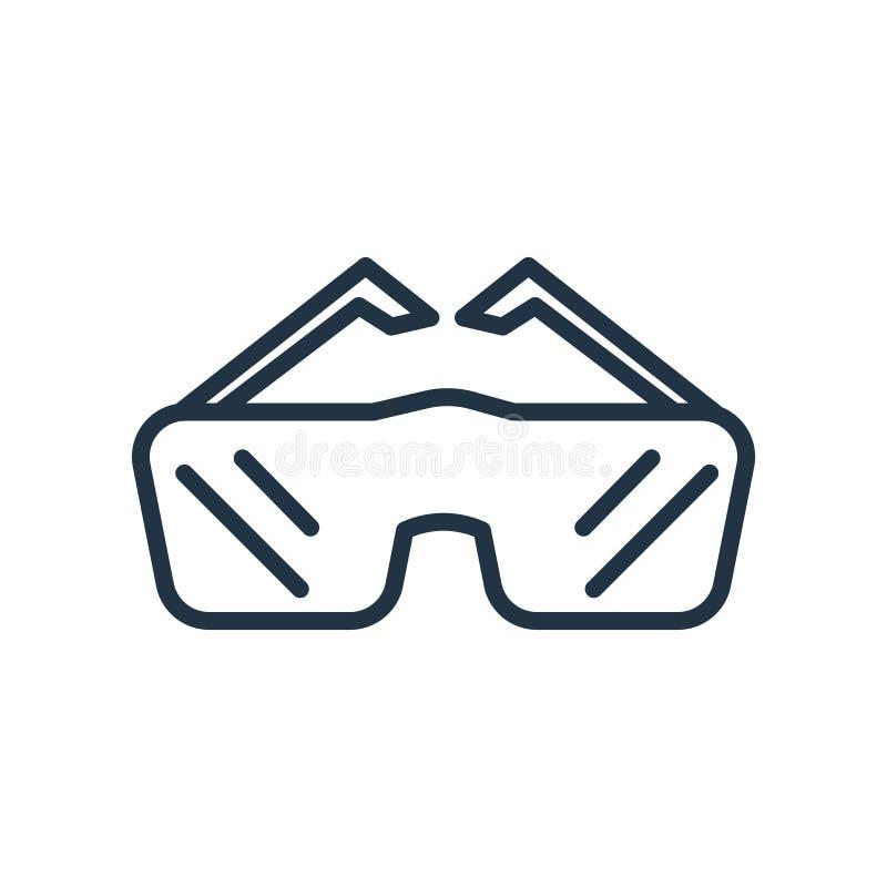 Il vettore dell'icona degli occhiali di protezione isolato su fondo bianco, occhiali di protezione firma royalty illustrazione gratis