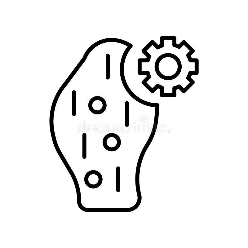 Il vettore dell'icona dei batteri isolato su fondo bianco, batteri firma, linea sottile elementi di progettazione nello stile del royalty illustrazione gratis