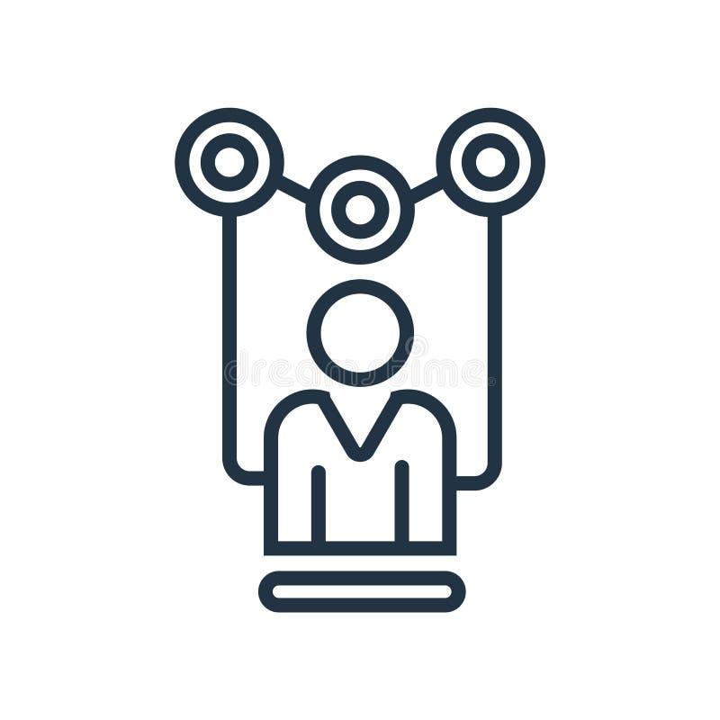 Il vettore dell'icona dei clienti isolato su fondo bianco, clienti firma illustrazione di stock