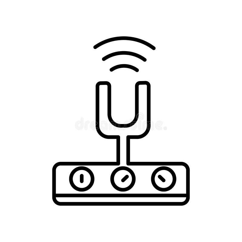 Il vettore dell'icona dei clienti isolato su fondo bianco, clienti firma, segno e simboli nello stile lineare sottile del profilo illustrazione vettoriale