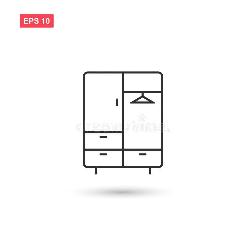 Il vettore dell'icona del guardaroba ha isolato 7 illustrazione vettoriale