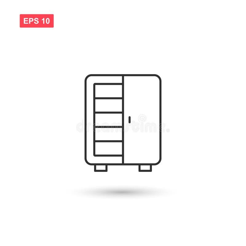 Il vettore dell'icona del guardaroba ha isolato 9 illustrazione di stock