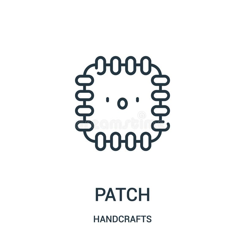 il vettore dell'icona della toppa da handcrafts la raccolta Linea sottile illustrazione di vettore dell'icona del profilo della t illustrazione di stock