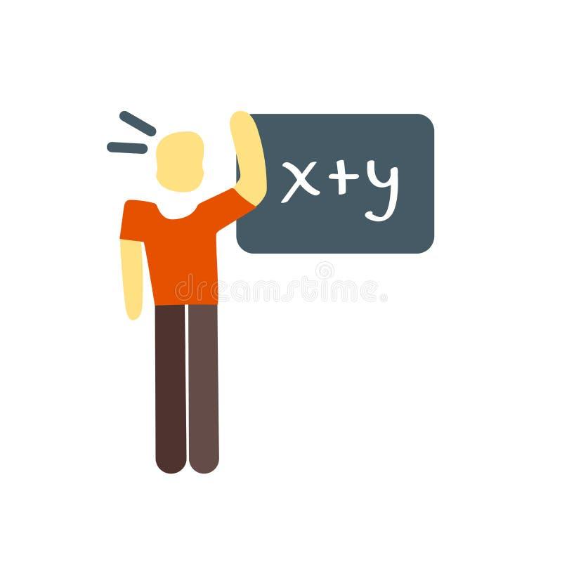Il vettore dell'icona di per la matematica isolato su fondo bianco, per la matematica firma illustrazione vettoriale