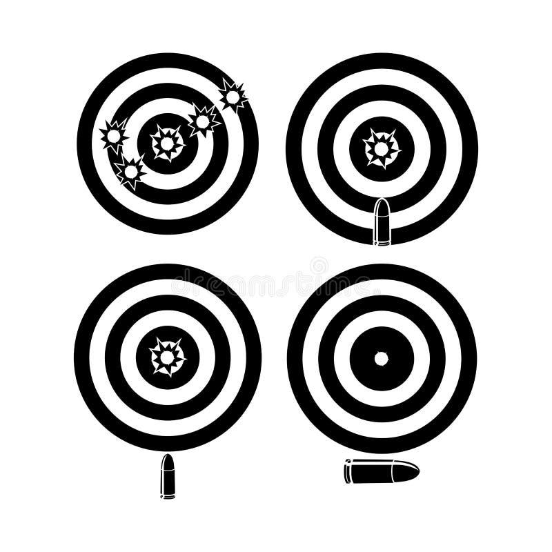 Il vettore della pallottola dell'obiettivo progetta il colore nero royalty illustrazione gratis