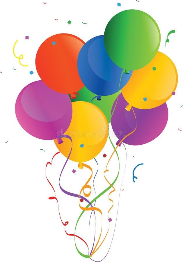 Il vettore di festa Balloons 2 royalty illustrazione gratis