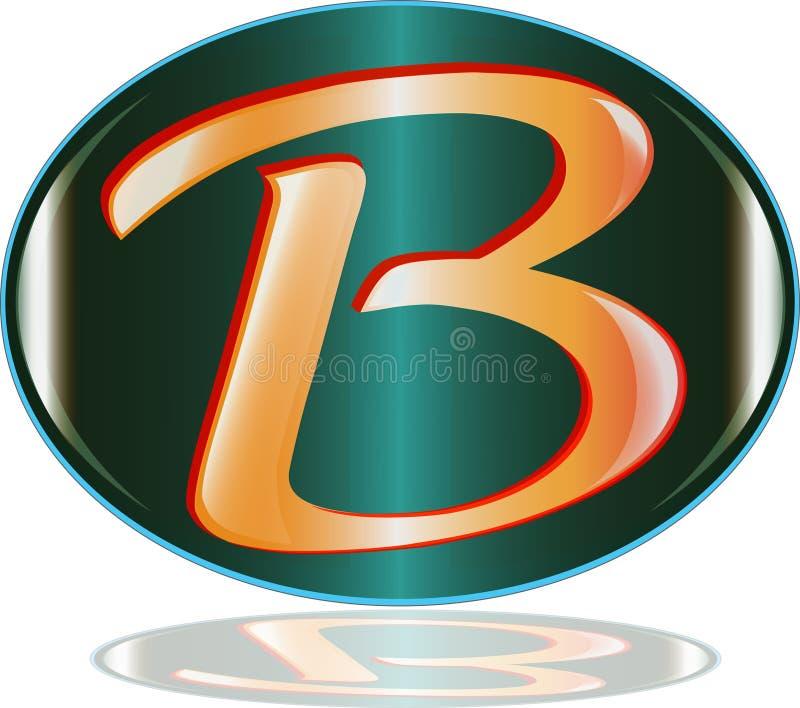 Il vettore di logo della lettera B royalty illustrazione gratis