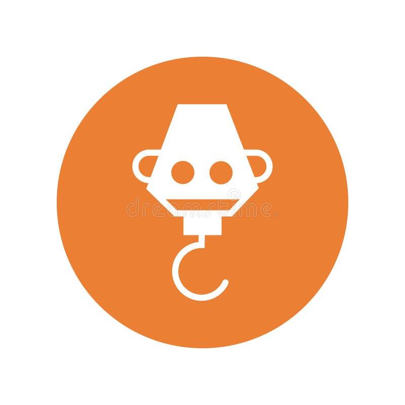 Il vettore industriale dell'icona del gancio canta il simbolo illustrazione vettoriale
