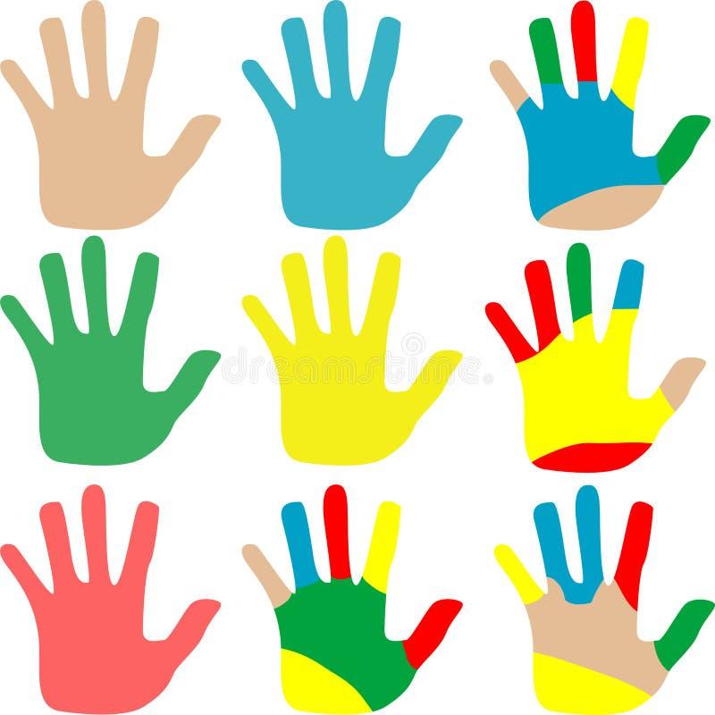 Il vettore passa l'insieme multicolore isolato su bianco royalty illustrazione gratis