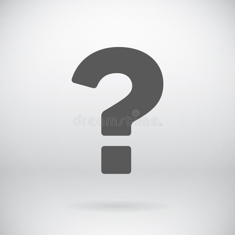 Il vettore piano del segno di domanda chiede il fondo di simbolo illustrazione vettoriale