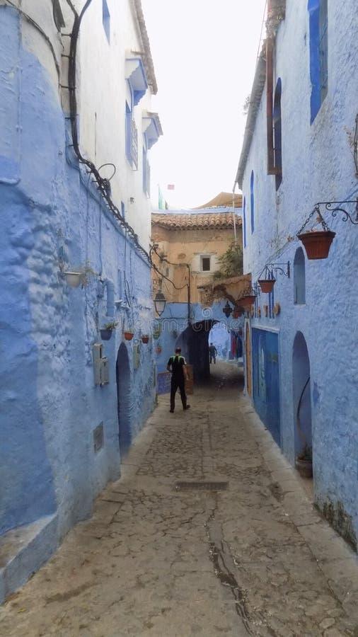Il via-Marocco CHEFCHAUEN-tipico fotografie stock