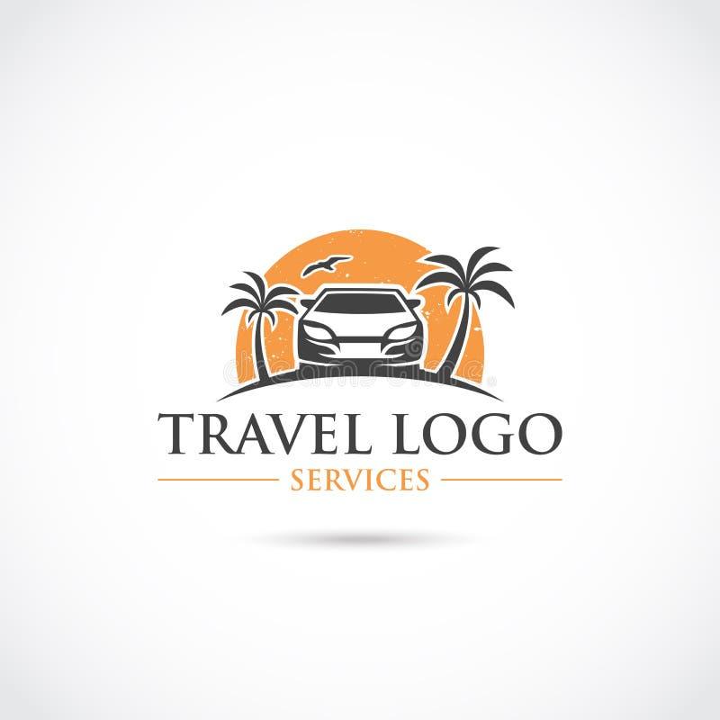 Il viaggio fornisce un servizio a Logo Design Illustratore ENV di vettore 10 illustrazione di stock