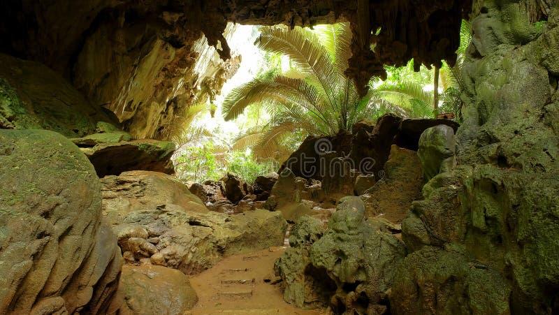 Il viaggio frana Hup il parco nazionale del patat, provincia di Uthaithani, Tailandia immagine stock libera da diritti
