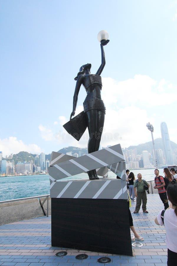 Il viale delle stelle a Hong Kong fotografia stock