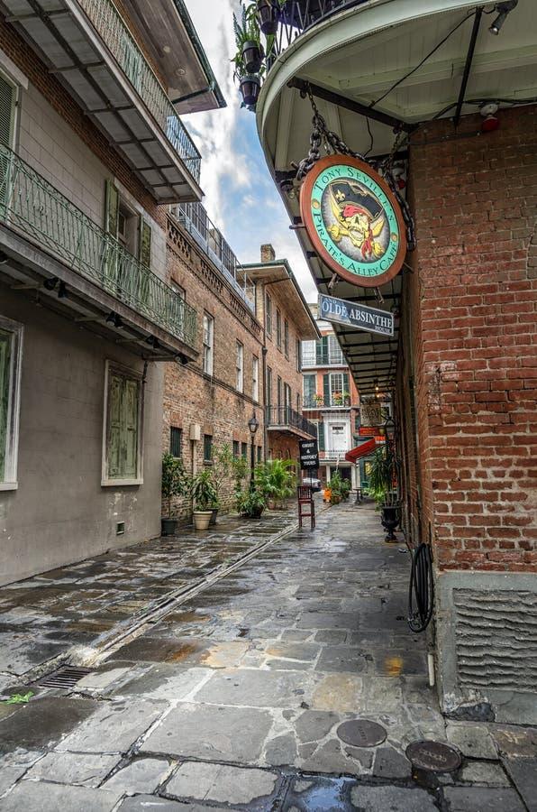 Il vicolo del pirata in LA di New Orleans fotografia stock libera da diritti