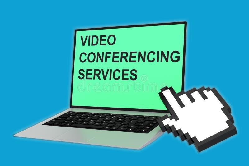 Il video comunicazione assiste il concetto illustrazione vettoriale