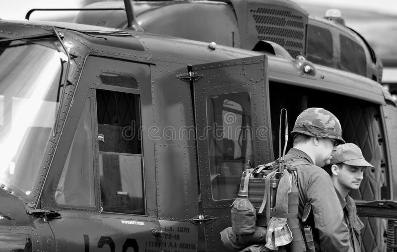 Il Vietnam grunts (ricreazione) fotografia stock
