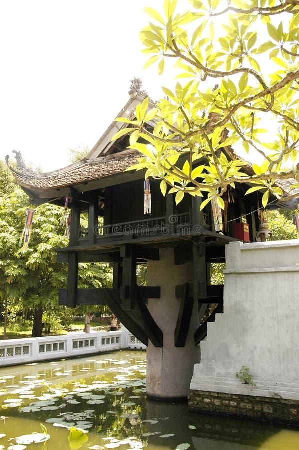 Il Vietnam, Hanoi: Un pagoda pilar fotografia stock