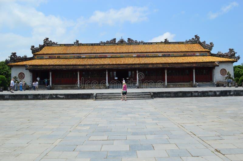 Il Vietnam - tonalità - dentro la cittadella - costruzione reale immagine stock
