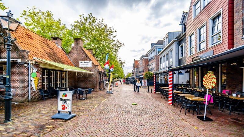 Il villaggio di Bunschoten-Spakenburg nei Paesi Bassi immagini stock libere da diritti