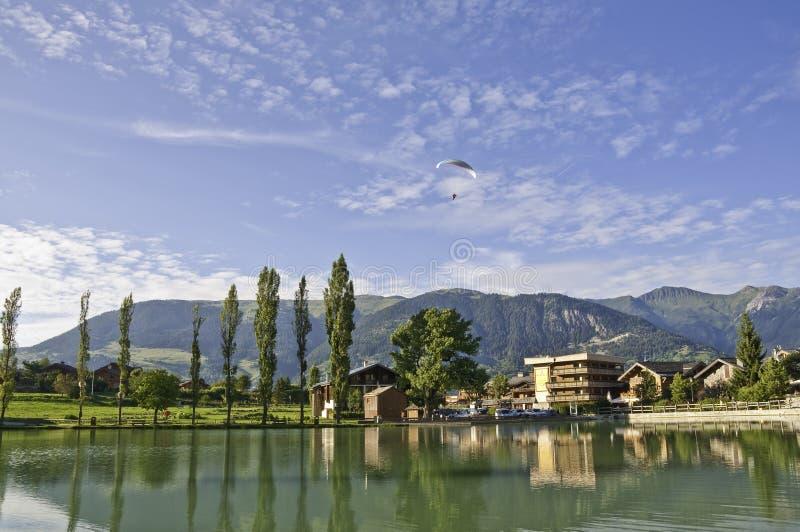 Il villaggio di Le Praz, vicino al Vanoise NP immagine stock libera da diritti
