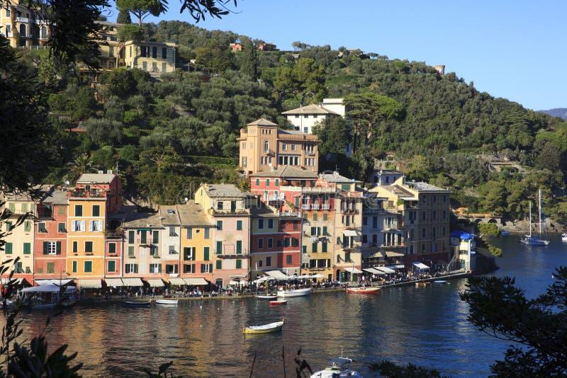 Il villaggio di Portofino del famouse, Genova, Liguria, Italia fotografie stock libere da diritti