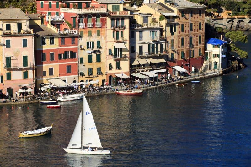 Il villaggio famoso di Portofino, Genova, Liguria, Italia immagini stock