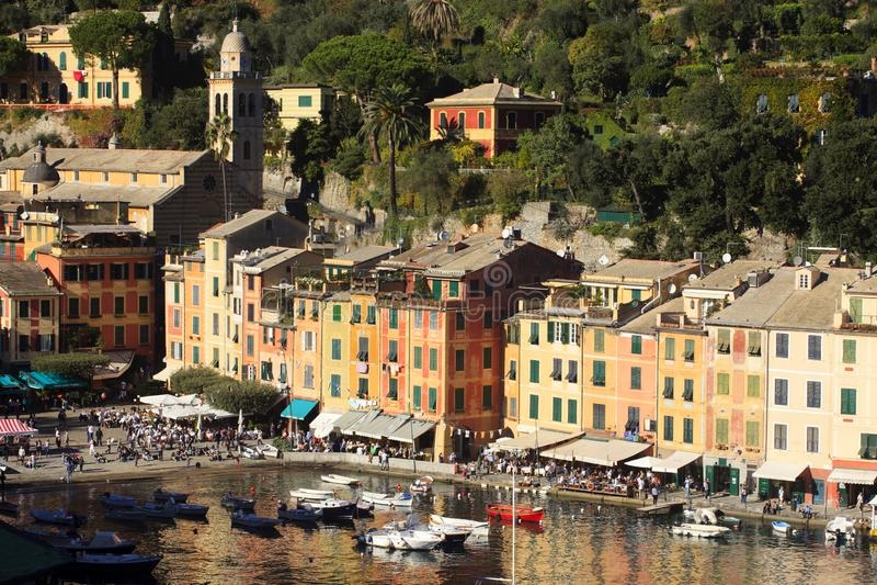 Il villaggio famoso di Portofino, Genova, Liguria, Italia fotografia stock