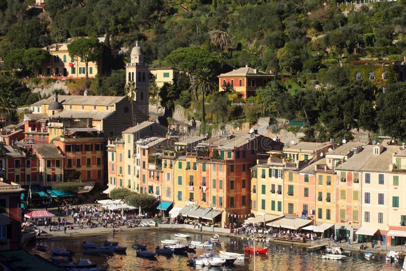 Il villaggio famoso di Portofino, Genova, Liguria, Italia fotografia stock libera da diritti