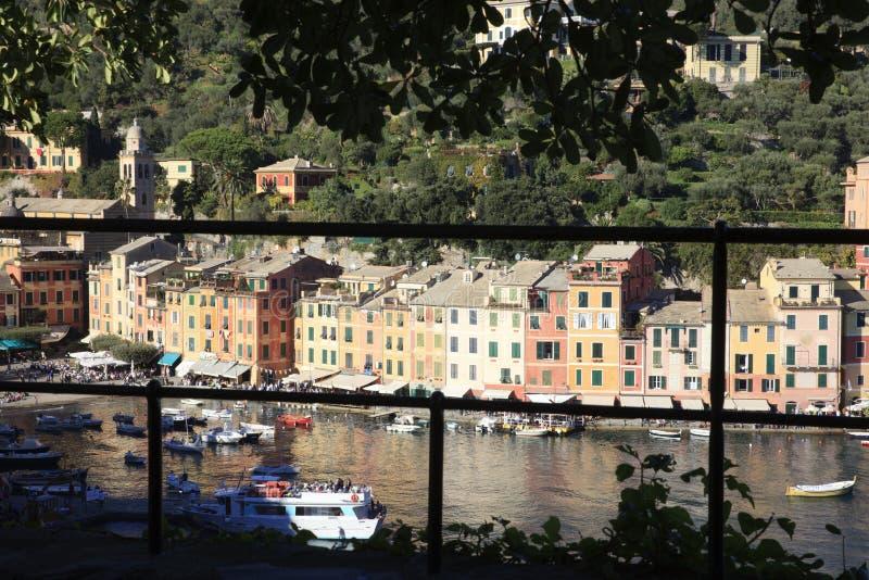 Il villaggio famoso di Portofino, Genova, Liguria, Italia immagini stock libere da diritti