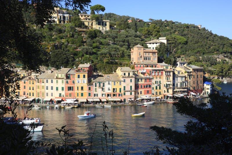 Il villaggio famoso di Portofino, Genova, Liguria, Italia fotografie stock libere da diritti