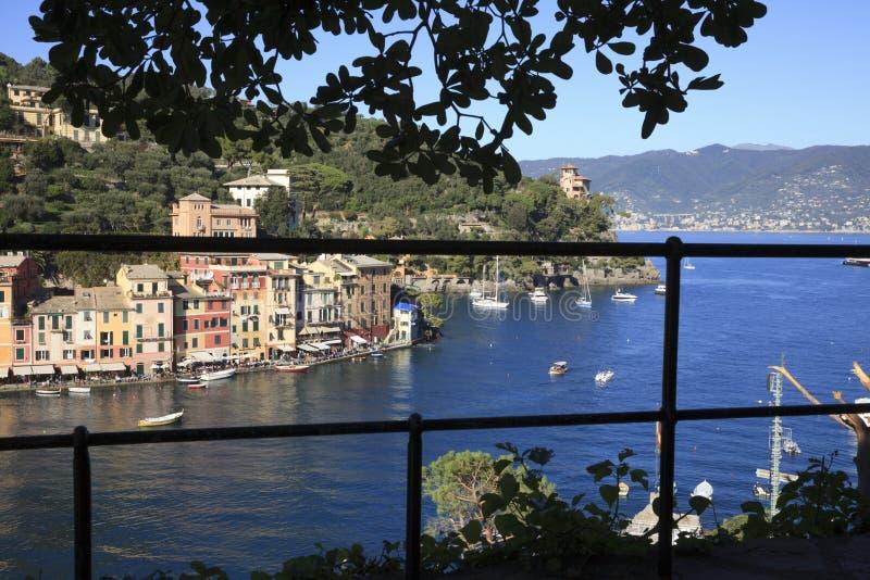 Il villaggio famoso di Portofino, Genova, Liguria, Italia fotografie stock