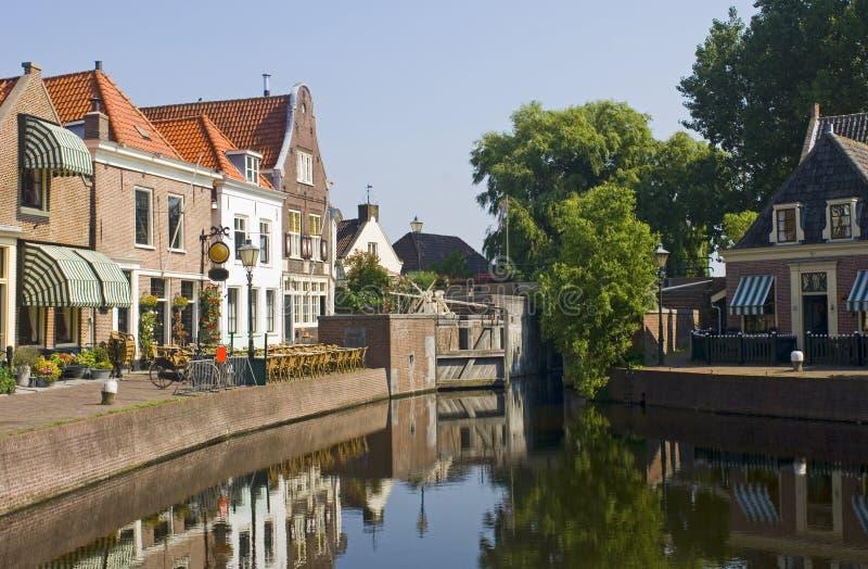 Il villaggio olandese di Spaarndam immagini stock libere da diritti