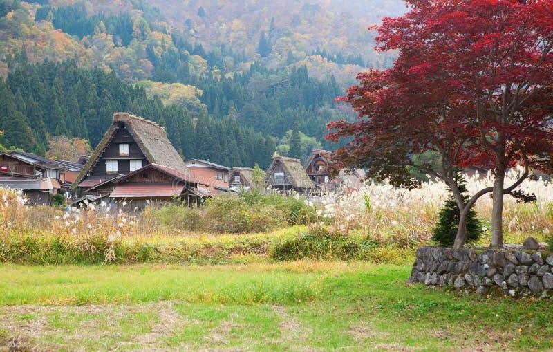 Il villaggio tradizionale Shirakawa-va, il Giappone immagine stock