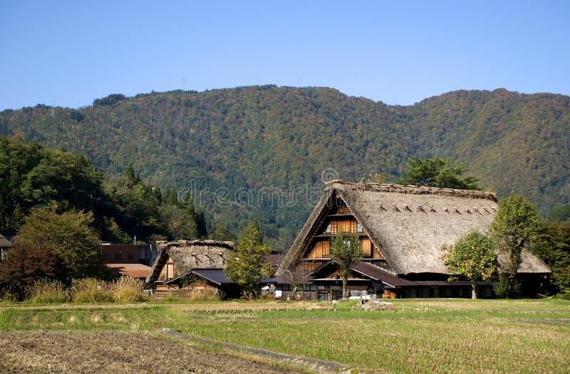 Il villaggio tradizionale, Shirakawa-va, il Giappone fotografie stock libere da diritti