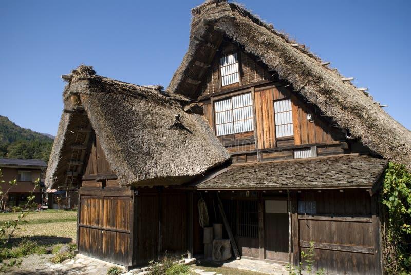 Il villaggio tradizionale, Shirakawa-va, il Giappone immagine stock