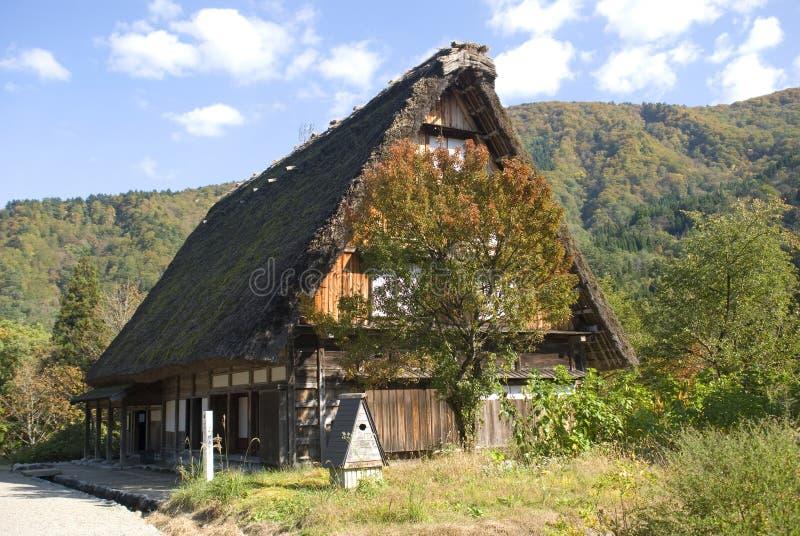 Il villaggio tradizionale, Shirakawa-va, il Giappone fotografia stock