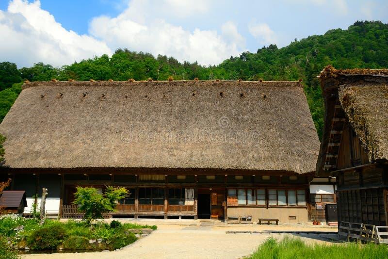 Il villaggio tradizionale, Shirakawa-va, il Giappone fotografia stock libera da diritti