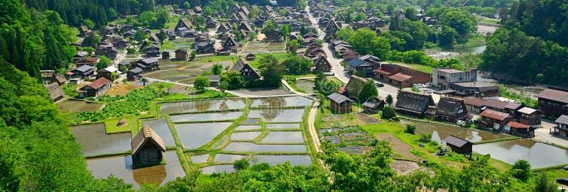 Il villaggio tradizionale, Shirakawa-va, il Giappone immagine stock libera da diritti