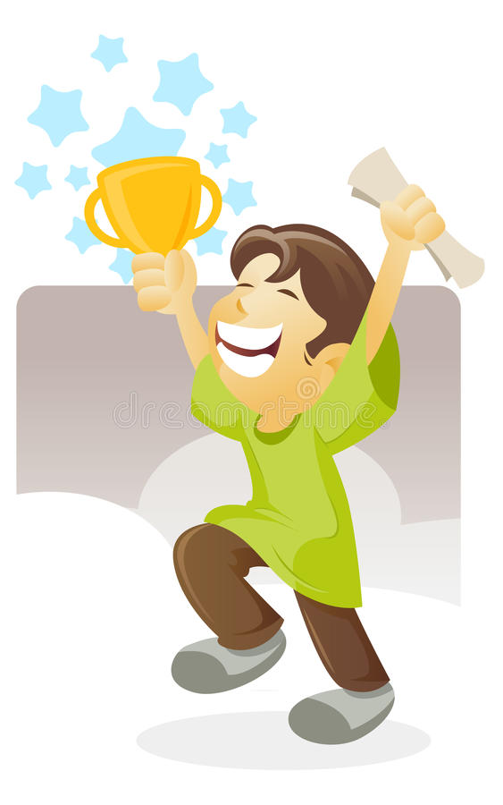 Il vincitore illustrazione vettoriale