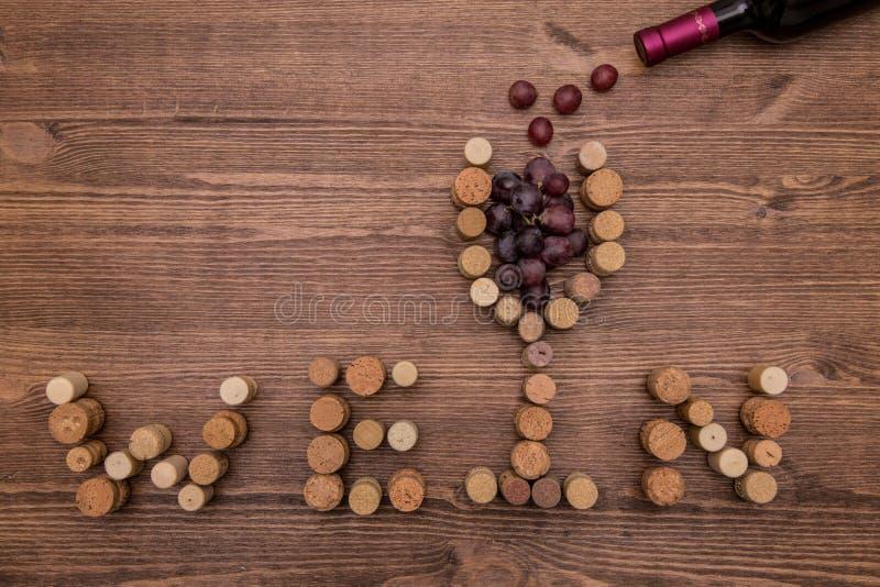 Il vino tappa il ` del wein del ` del primo piano immagine stock
